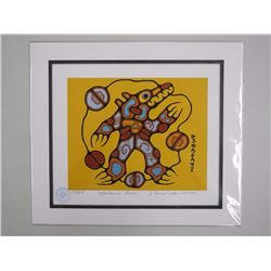 Norval Morrisseau (1931-2007) LE Print 'Inorganics' Plated Signed - CREE 11x13 unframed, with C.O.A.