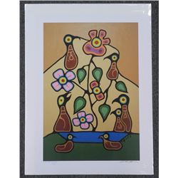 Christian Morrisseau (1969-) Litho 'Healing Flower Tree' Artist Proof # 19. Hand Signed. 22x30