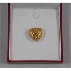 Ladies 18kt Gold Plated / 925 Sterling Silver 'Puffed Heart Pendant'