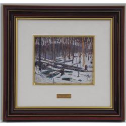 'Tom Thomson' (1877-1917) Master Edition 'Phoenix Process' 'Winter in the Woods' Medium: Oil on Pane