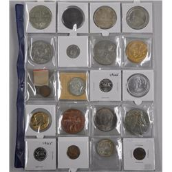 20x Estate - Numismatic Coins, Tokens etc Includes: Canada Silver Dollar USA and World Silver etc (A