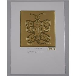 Christian Morrisseau (1969-) 24kt Gold Motif 'I Love you Chimo' Hand Signed. LE / 100 Worldwide. Sea