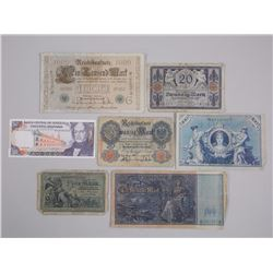 Lot of World Notes - Large Format. 1800s-1900s German etc