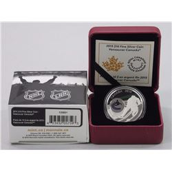RCM .999 Fine Silver $10.00 NHL Logo Coin - Vancouver. LE with C.O.A.