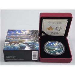 2017 - .9999 Fine Silver $30.00 Coin 'Animals in the Moonlight' Cougar - Sold Out Issue (OXR)