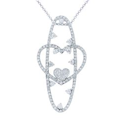 Genuine 2.28 TCW 14K White Gold Ladies Necklace - REF-216Y7X