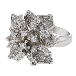 18K White Gold 2.12CTW Diamond Fashion Ring - REF-346F6M