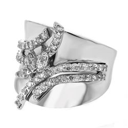 14K White Gold 0.66CTW Diamond Fashion Ring - REF-171Y4X