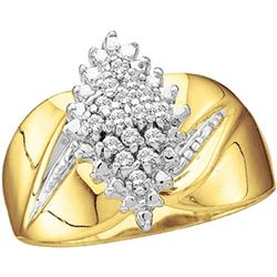 0.12 CTW Natural Diamond Cluster Ring 10K Yellow Gold