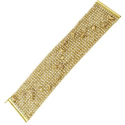 14K Yellow Gold 1.48CTW Diamond Bracelet - REF-415H9W