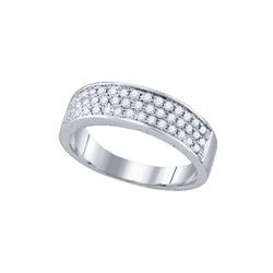 0.49 CTW Natural Diamond Band 10K White Gold