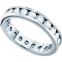 1.50 CTW Natural Diamond Bridal Anniversary Eternity Band 14K White Gold