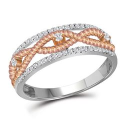 0.25 CTW Natural Diamond Pink Rope Band 10K White Gold