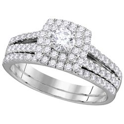 1 CTW EGL Certified Diamond Bridal Engagement Ring 14K White Gold