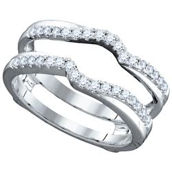 0.34 CTW Natural Diamond Ring 14K White Gold