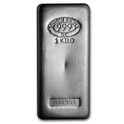 Genuine 1 kilo 0.999 Fine Silver Bar - Johnson Matthey