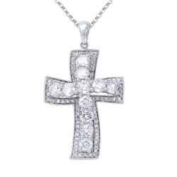 Genuine 2.13 TCW 14K White Gold Ladies Necklace - REF-243M2F