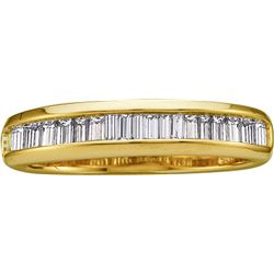 0.5 CTW Baguette Natural Diamond Band 14K Yellow Gold