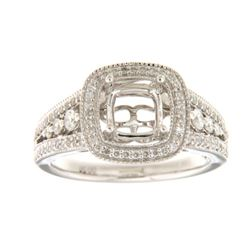 14K White Gold 0.5CTW Ladies Diamond Ring - REF-89H8W