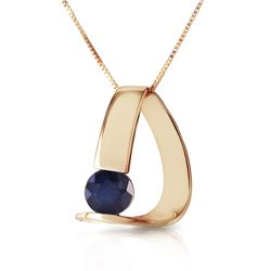 Genuine 1.50 ctw Sapphire Necklace Jewelry 14KT Yellow Gold - REF-58Y4F