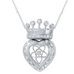 Genuine 0.8 TCW 14K White Gold Ladies Necklace - REF-98Y9X