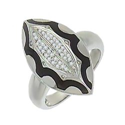 14K White Gold 0.22CTW Diamond Rings - REF-67H9W