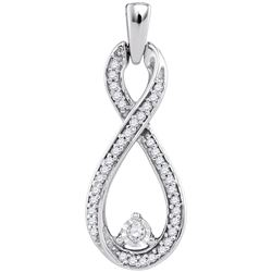 0.16 CTW Natural Diamond Infinity Pendant 10K White Gold