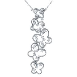 Genuine 0.76 TCW 14K White Gold Ladies Necklace - REF-112A7N