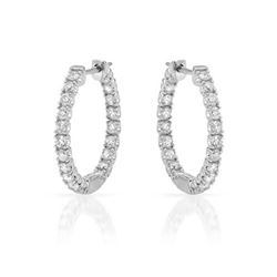 Genuine 0.95 TCW 14K White Gold Ladies Earring - REF-94N2A
