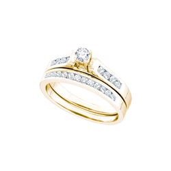 0.5 CTW Natural Diamond Solitaire Bridal Engagement Ring 14K Yellow Gold