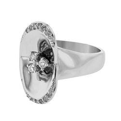 18K White Gold 0.23CTW Diamond Fashion Ring - REF-119N7A