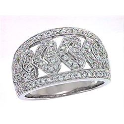 18K White Gold 0.55CTW Diamond Rings - REF-141K9R