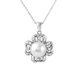 Genuine 5.86 TCW 18K White Gold Ladies Necklace - REF-106A7N