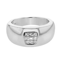 14K White Gold 0.33CTW Diamond Fashion Ring - REF-80N3A