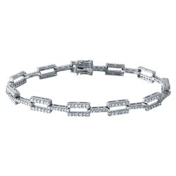 2.26 CTW 18K White Gold Ladies Bracelet - REF-312K3R