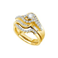 1 CTW Natural Diamond Bridal Engagement Ring 10K Yellow Gold