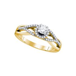 0.41 CTW Natural Diamond Bridal Engagement Anniversary Ring 10K Yellow Gold