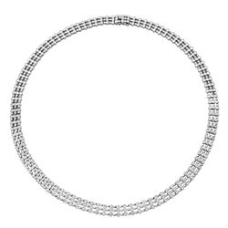 18K Gold 3.43 CTW Diamond Necklace - REF-735Y7X