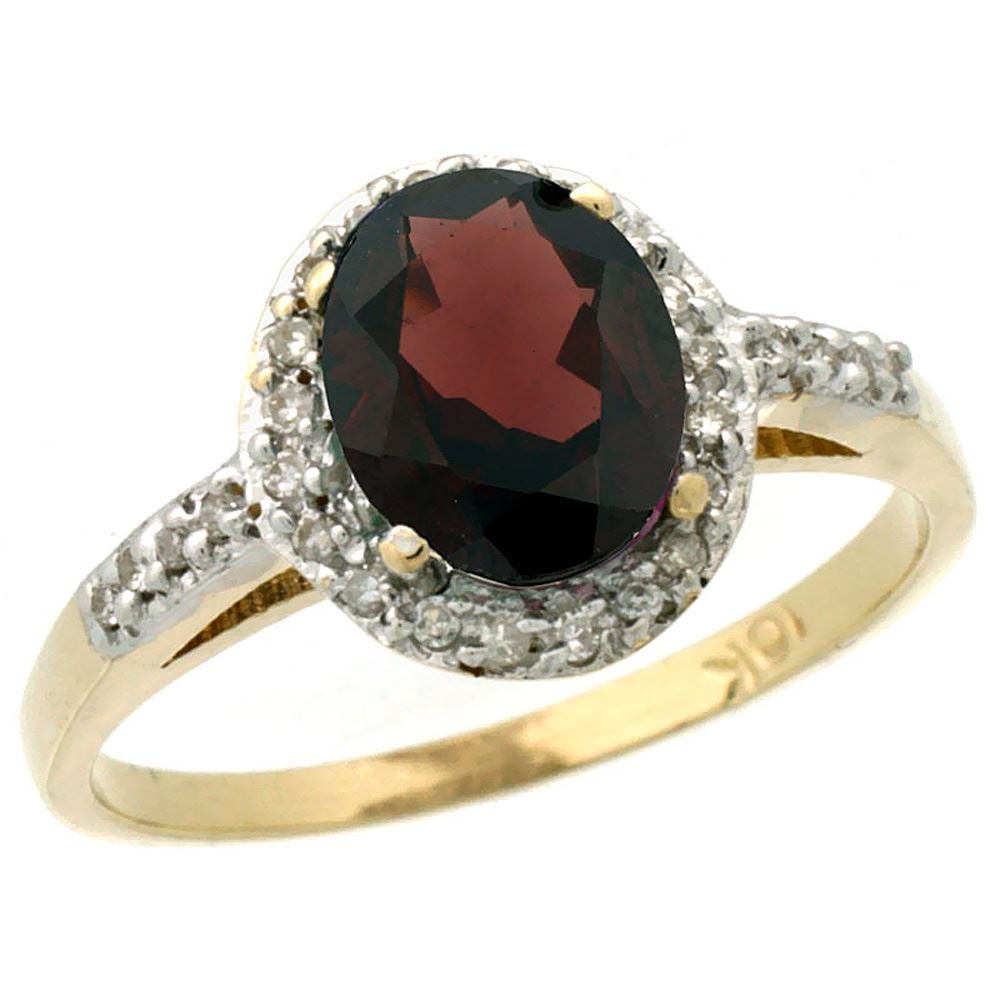 1 3 ctw garnet engagement ring 10k