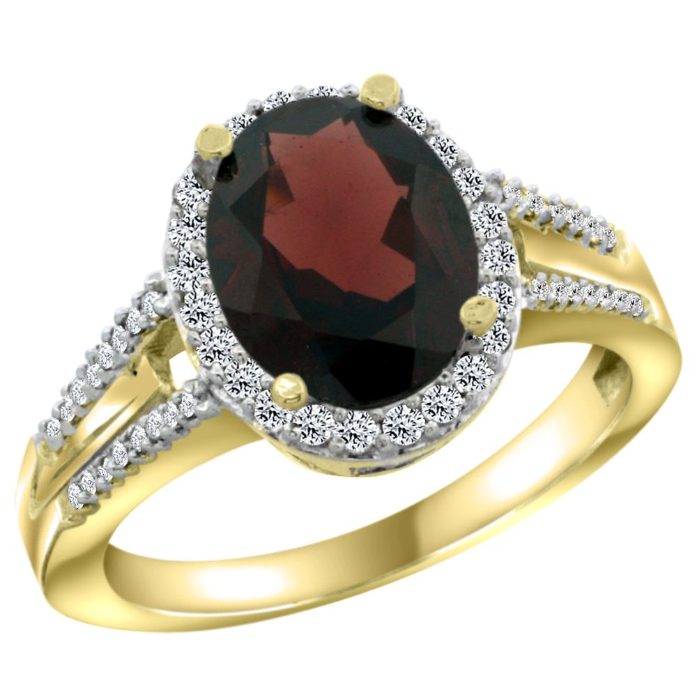 2 72 ctw garnet engagement ring 14k