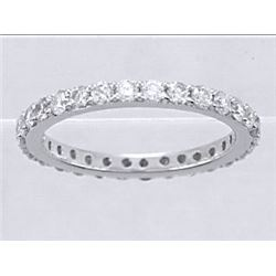 14K White Gold 1.09CTW Diamond Band Ring - REF-94K5R