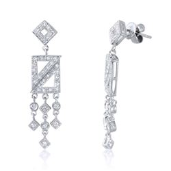 18K Gold 0.74 CTW Diamond Earring - REF-107M3F