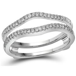 0.25 CTW Natural Diamond Ring 14K White Gold