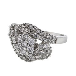 14K White Gold 2CTW Diamond Fashion Ring - REF-212N9A