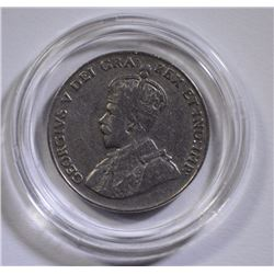 RARE 1925 CANADIAN NICKEL, NICE VF COIN!