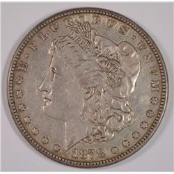 1878 8TF MORGAN SILVER DOLLAR AU