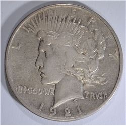 1921 PEACE SILVER DOLLAR, CHOICE XF   KEY DATE