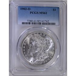 1902-O MORGAN SILVER DOLLAR PCGS MS-61