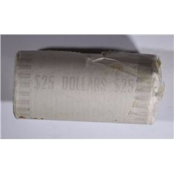 ORIGINAL ROLL UNC SUSAN B ANTHONY DOLLARS -  1979 BANK WRAPPED with ONE END OPEN