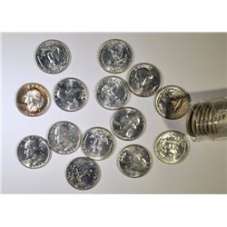 MIXED DATE SILVER WASHINGTON QUARTER  ROLL ( 40 ) COINS